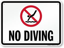 diving no